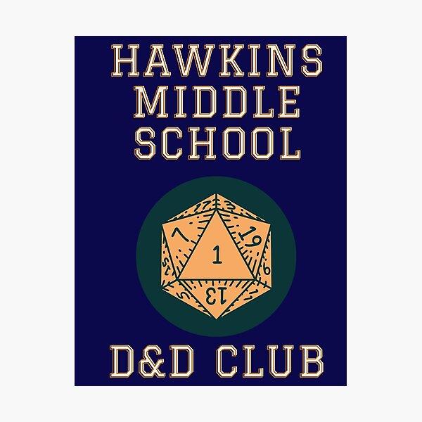 Hawkins D&D Club Photographic Print