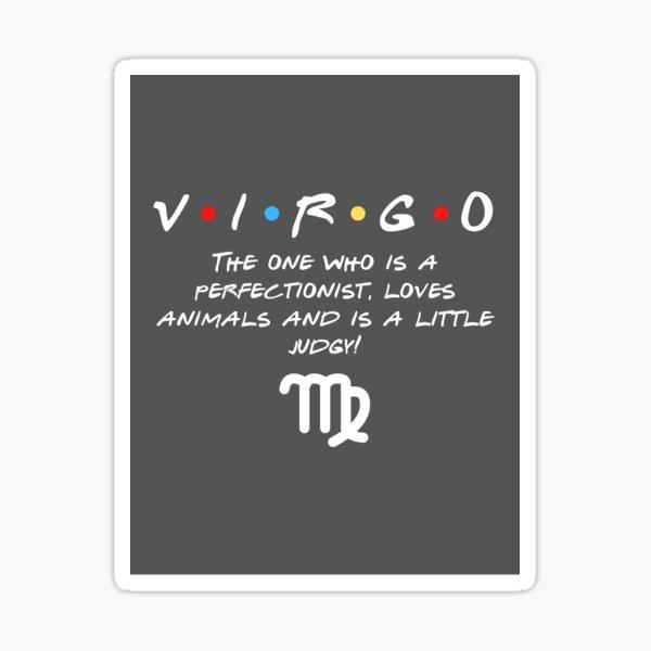 Friends Virgo zodiac design Sticker
