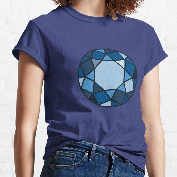 Brilliant cut blue diamond Classic T-Shirt