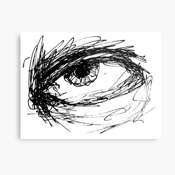 Eye Sketch  Metal Print
