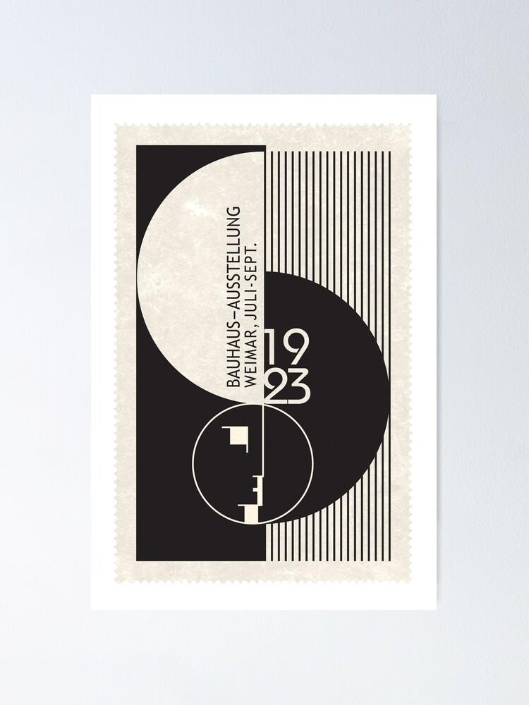 Alternate view of Bauhaus Exhibition Art Poster