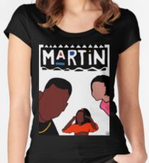 Martin (White) Women's Fitted Scoop T-Shirt