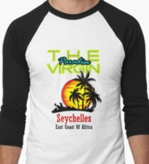 The Virgin Paradise, Seychelles Men's Baseball ¾ T-Shirt