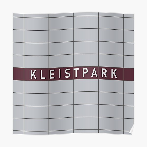 Kleistpark Station Tiles (Berlin) Poster