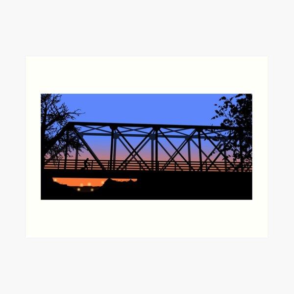 One Tree Hill Bridge Art Print