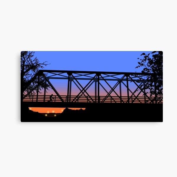 One Tree Hill Bridge Canvas Print