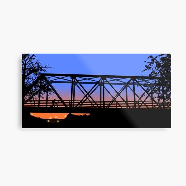 One Tree Hill Bridge Metal Print