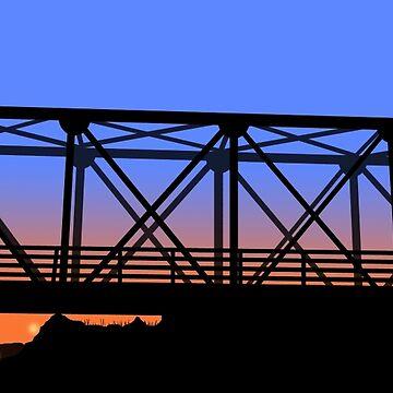 Eine Baum-Hügel-Brücke von seeleybooth