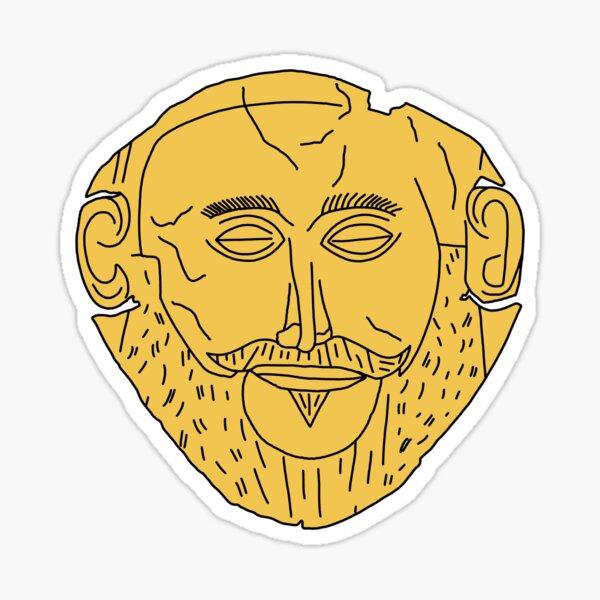 Mask of Agamemnon Sticker