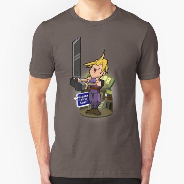Low poly hero Slim Fit T-Shirt