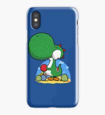 Wooly Egg Chucking Dinosaur iPhone Case/Skin