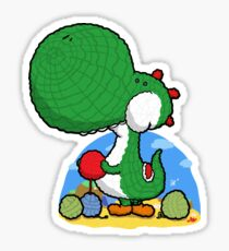 Wooly Egg Chucking Dinosaur Sticker