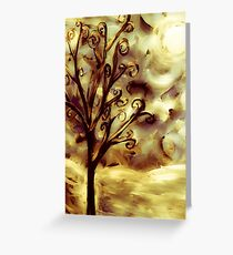 tree in the wind (firelight) Greeting Card