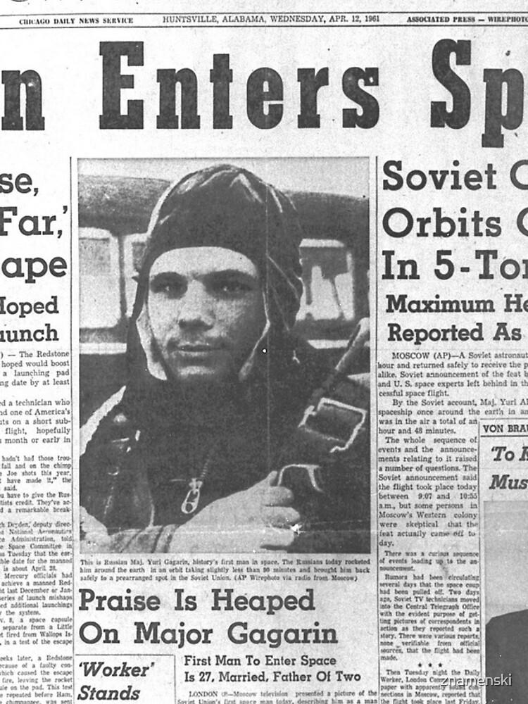 Man Enters Space. Soviet Officer Orbits Globe In 5-Ton Ship by znamenski