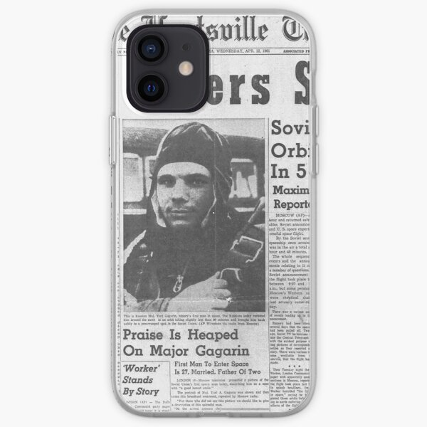 Man Enters Space. Soviet Officer Orbits Globe In 5-Ton Ship iPhone Soft Case