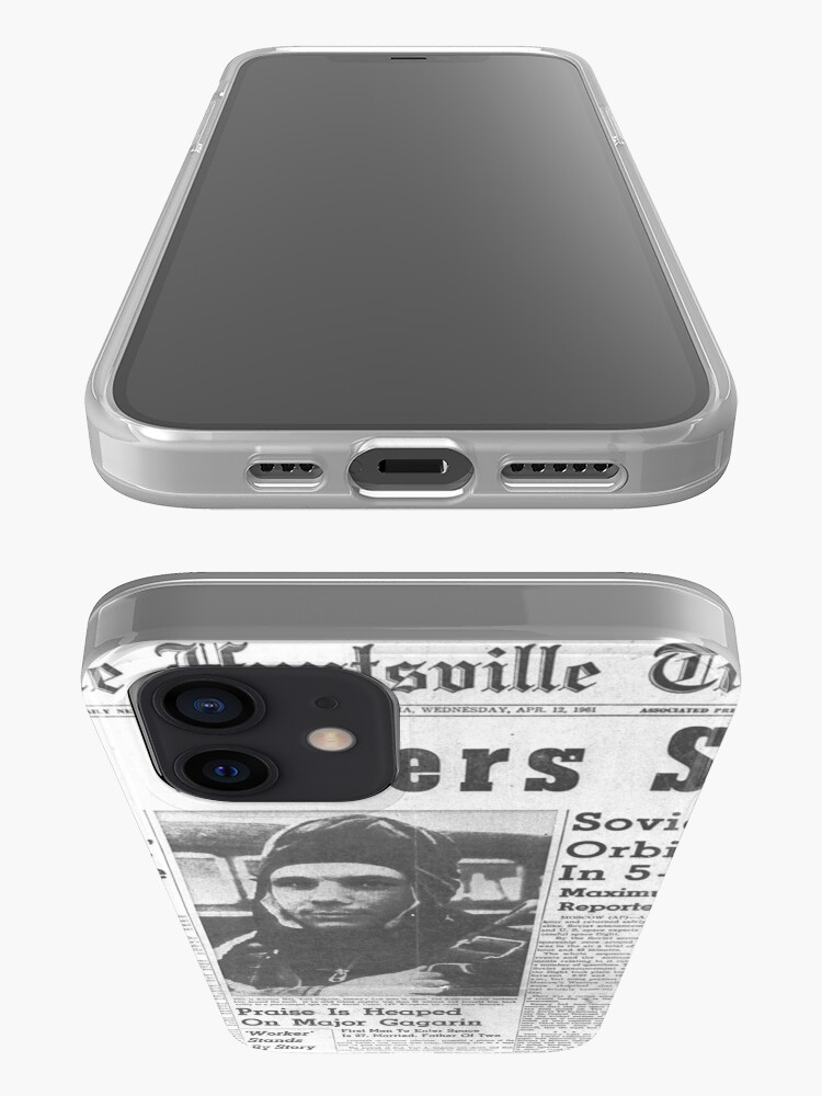 Alternate view of Man Enters Space. Soviet Officer Orbits Globe In 5-Ton Ship iPhone Case