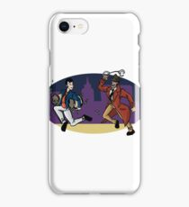 Lupin III- lupin and zenigata iPhone Case/Skin