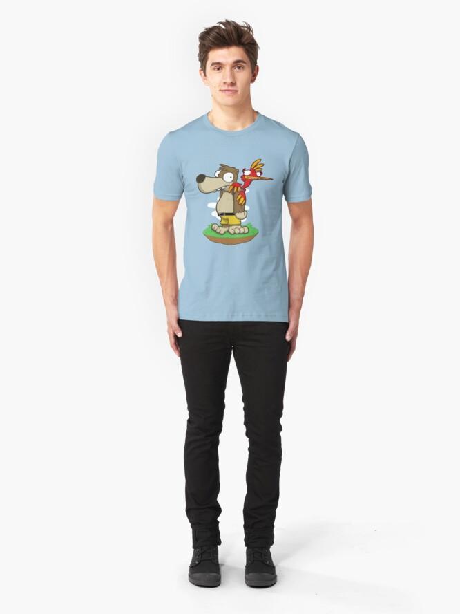 Alternate view of Banjer & Kazooper! Slim Fit T-Shirt