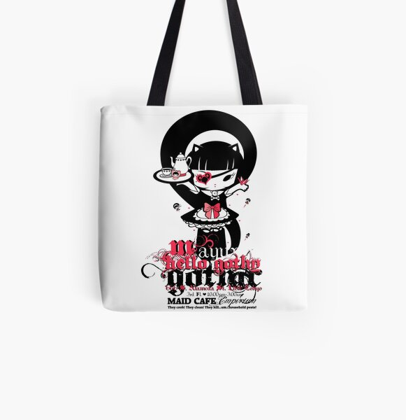 Meido Cafe All Over Print Tote Bag