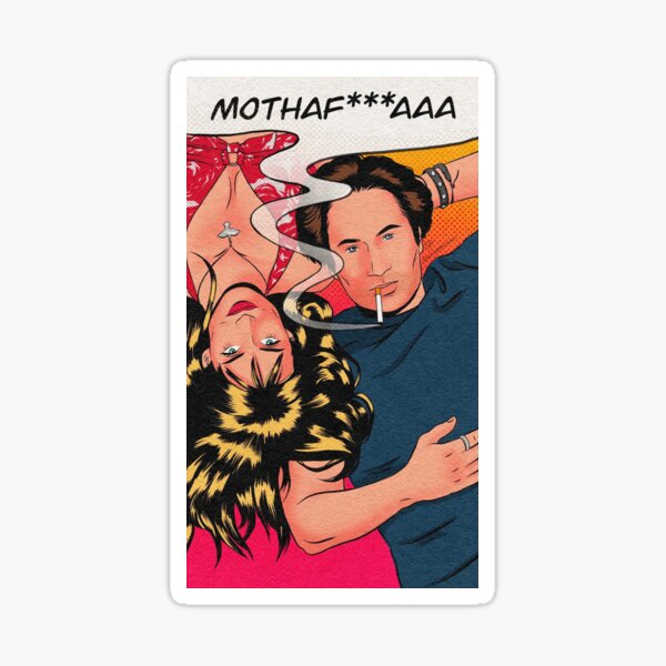 californication pop art mothaf *** aaa Sticker