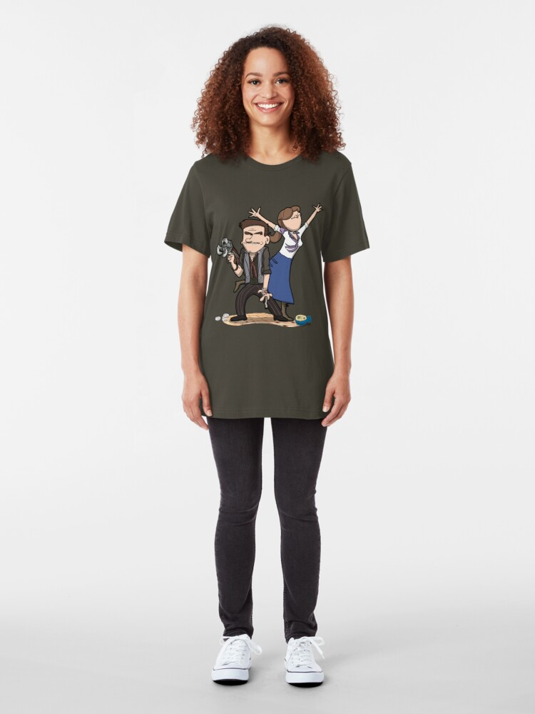 Alternate view of You know what, keep the girl. Dept is gone. Slim Fit T-Shirt