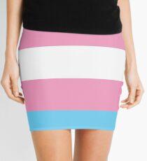 Transgender Flag Mini Skirt