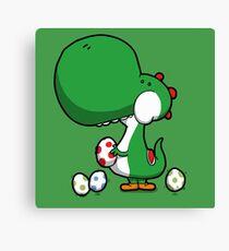 Egg Chuckin' Dinosaur Canvas Print