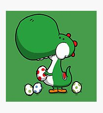 Egg Chuckin' Dinosaur Photographic Print
