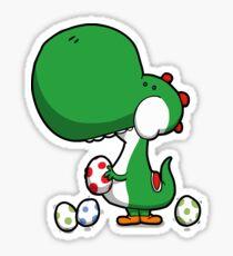Egg Chuckin' Dinosaur Sticker