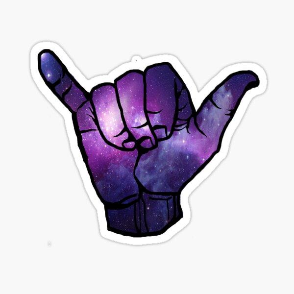 Galaxy Shaka Sticker