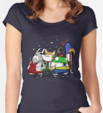I see 'em up ahead. Let's rock 'n' roll! Women's Fitted Scoop T-Shirt