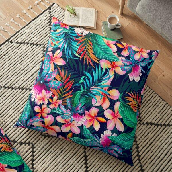 Hawaiian Flowers Pattern Floor Pillow