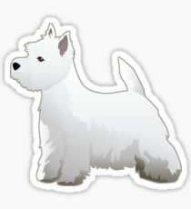 West Highland White Terrier - Westie - Basic Breed Silhouette Sticker