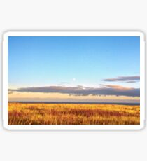 Sunset on Golden Field - Aberdeenshire, Scotland Sticker