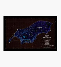 USGS TOPO Map Northern Mariana Islands MP Island Of Rota (Luta) 462334 1983 25000 Inverted Photographic Print