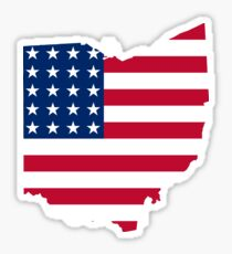 Patriotic Ohio Sticker