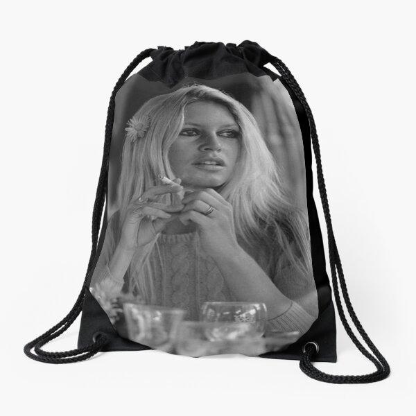 Brigitte Bardot flower in hair Drawstring Bag