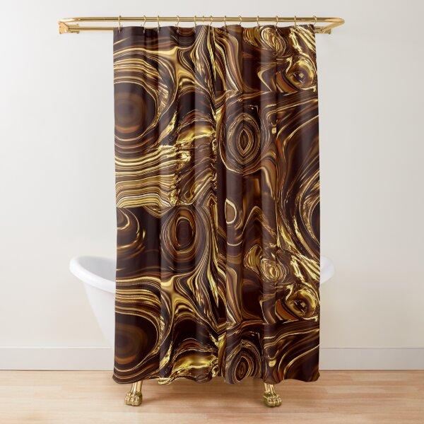 Golden Chocolate Shower Curtain