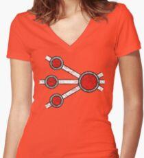 Firestorm - DC Spray Paint Women's Fitted V-Neck T-Shirt