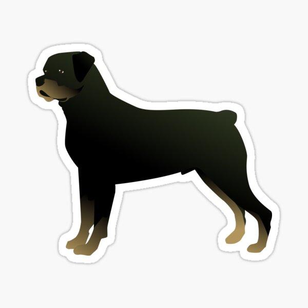 Rottweiler Basic Breed Silhouette Sticker