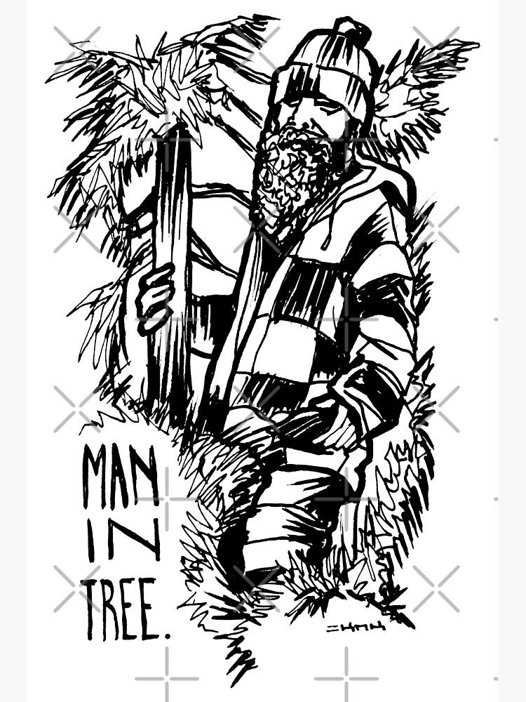 Man in Tree Seattle manintree by sketchNkustom