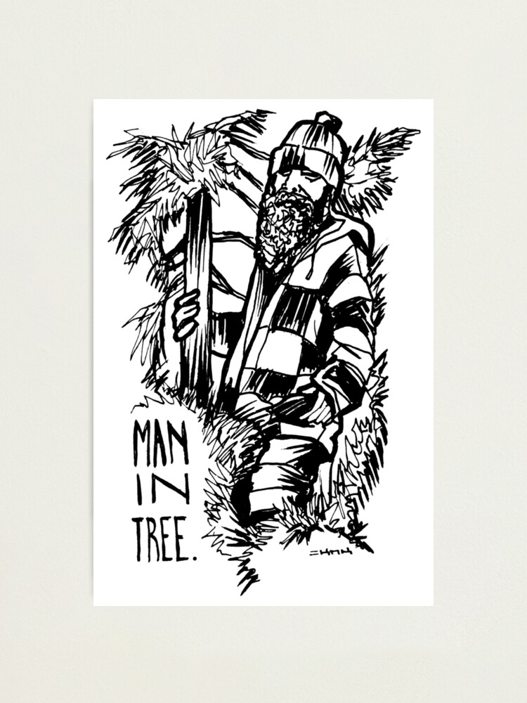 Alternate view of Man in Tree Seattle manintree Photographic Print