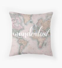Wanderlust Travel Throw Pillow