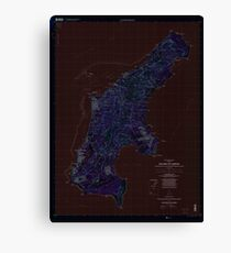 USGS TOPO Map Northern Mariana Islands MP Island Of Saipan 363626 1999 25000 Inverted Canvas Print