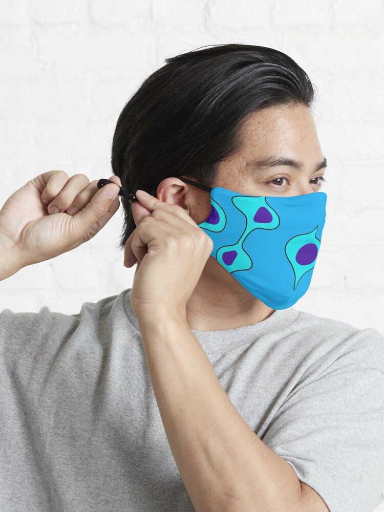 Alternate view of 50's Style Blobs on blue Mask