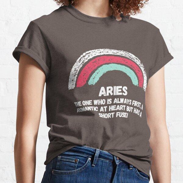 Rainbow Aries zodiac design Classic T-Shirt