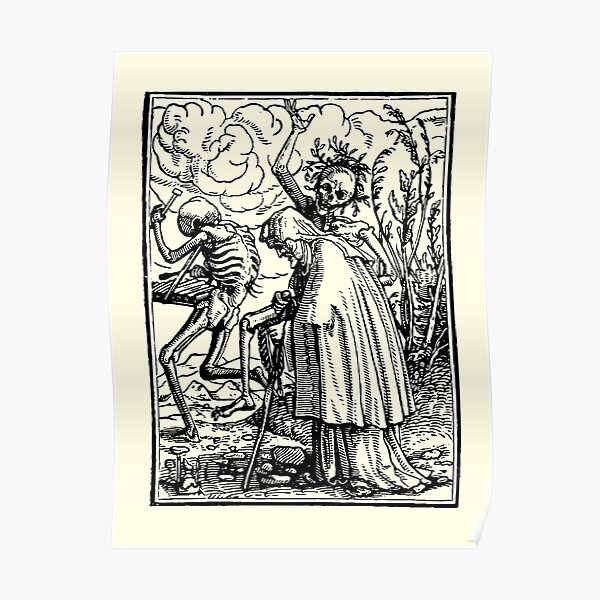Dance of Death, Dance of macabre (Holbein) Poster