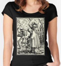 Totentanz, Dance of macabre (Holbein) Women's Fitted Scoop T-Shirt