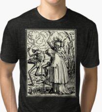 Camiseta de tejido mixto Dance of Death, Dance of macabre (Holbein)