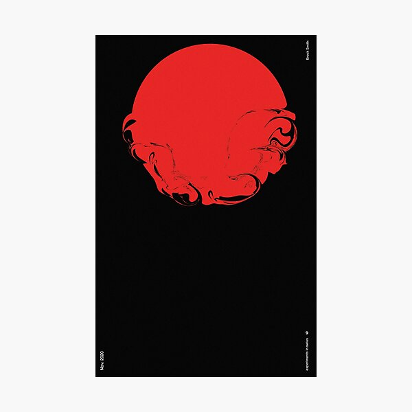 The Deep Red Photographic Print